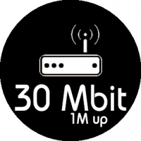Monthly Package 30MB Down / 1MB UP
